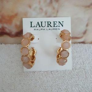 New Ralph Lauren Scalloped Hoop Earrings